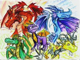 Spyro and the 4 Elements by DragonPhantom15
