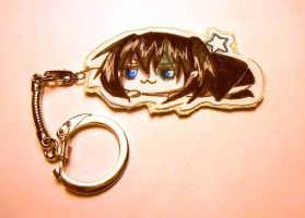 Black Rock Shooter Keychain by idont0know