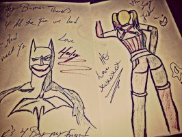 Batman Drawing's by yomithejester101