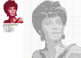 Star Trek Uhura Cross Stitch by black-lupin