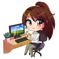 Office Girl Commission by DreaChu