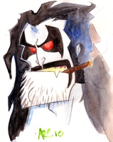 Watercolour Lobo by WesleyRiot