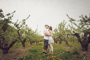Kissing in the Apple Trees by Freggoboy