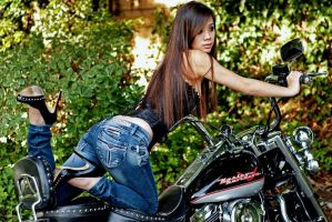 Motorcycle and Jeans by SpankingJeans