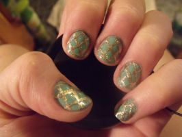 Faberge Egg inspired nails by kawaii-panic