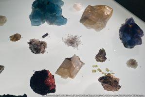 Museum : Crystals 01 by taeliac-stock