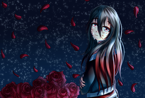 Roses and Petals + SPEEDPAINT by Spark1eFountain