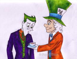 Joker and Hatter by Violet--Gypsy