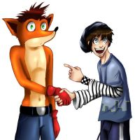 Look look its Crash by Luzetteart