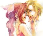 FF7 Cloud and Aerith by taka0801