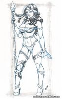 Savage Rogue bodyshot pencils by gb2k