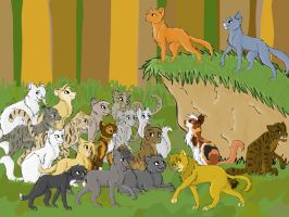 Request- Thunderclan Cats by BroadwayWolf