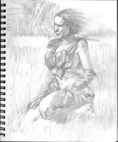 kurt brugel barbarian WENCH study 001 preliminary by SpiritedFool
