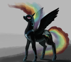 nightmare rainbow dash by ShizM00