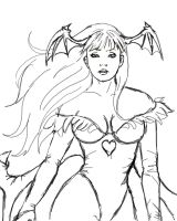 Sketch of Morrigan Aensland by Evangeline-Art