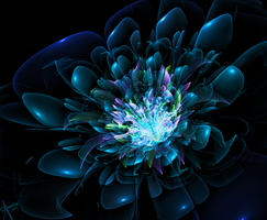Burst of Blue by The-Apparition
