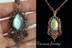Elven Princess Pendant by blackcurrantjewelry