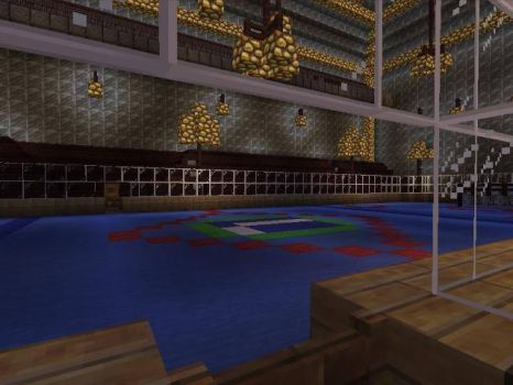 MINECRAFT Rogers Arena View From the Canucks Bench by vaderandrew