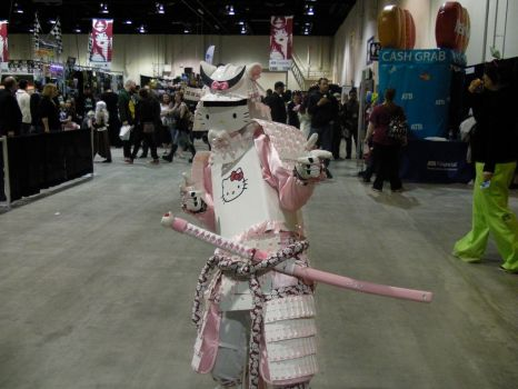 Calgary expo hello kitty samurai by callyrose
