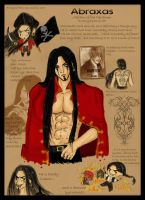Abraxas:character sheet by SpectralFairy