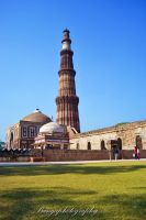 Qutub Minar Lawns by naveenbanga