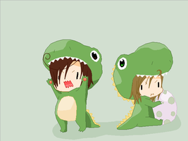 Rawr -- Romano and Messina by Deidaras-roomate