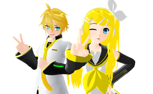 Older Rin and Len by Ask--RinKagamine