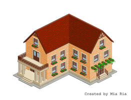 Pixel Art. Isometric. House 12 by MimiMiaART