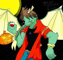 Leng, the Vampire Dragon by SWATKats