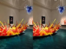 Wil Wheaton Gatecrashes A Dale Chihuli Exhibition by aegiandyad