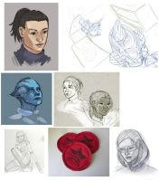 Mass Effect Sketch Dump by Shattered-Earth