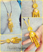 Yellow bunneh necklace by A-Spark-Of-Light