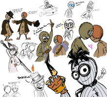 9 scribbles, oh lawd by RedDestiny