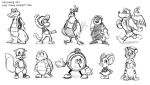 Diddy Kong Racing Sketches by BettyKwong