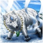 White female wolf by SheltieWolf