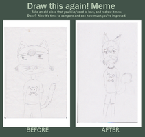 Draw again meme 4 years by I-love-Yami-and-Neko