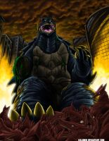 Gamera, Badass Of The Universe, Commission by kaijukid