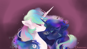 Sun and Moon by dreampaw