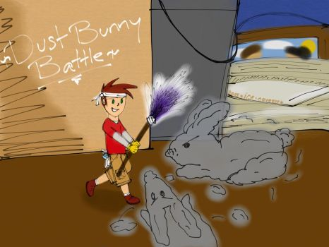 Spring Cleaning: Dust Bunny Battle by Ice-Cove27