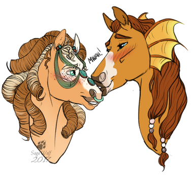 CM || Headshot | Corrine and Rycanon by SagaWolf