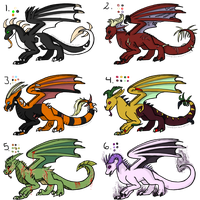 Halloween dragon adopts by DarkoDraco