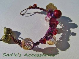 Fall is in the Air Wire-Wrapped Bangle Bracelet by SadiesAccessories