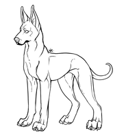 Great Dane lineart by Velyra
