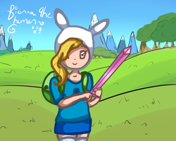 Fionna the Human! by JayneCroyez