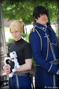 Mustang and Hawkeye - FMA Brotherhood by SparklePipsi