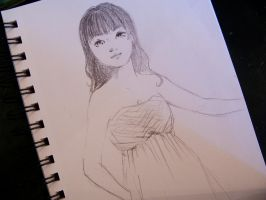 girl in a pleated bust dress by Spwrinkle