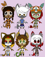 .:Adoptable set 5 -Closed-:. by Uncanny-Illustrator