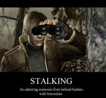 Stalking Motivational Poster by Umbrellacutie555