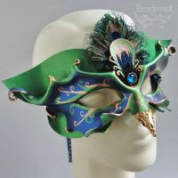 Venetian Peacock Mask by Beadmask