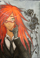 Red-haired Reaper by thecrimsonkitune